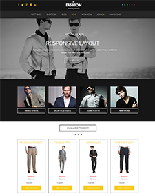 LT Fashion – Free clothes / fashion Joomla template