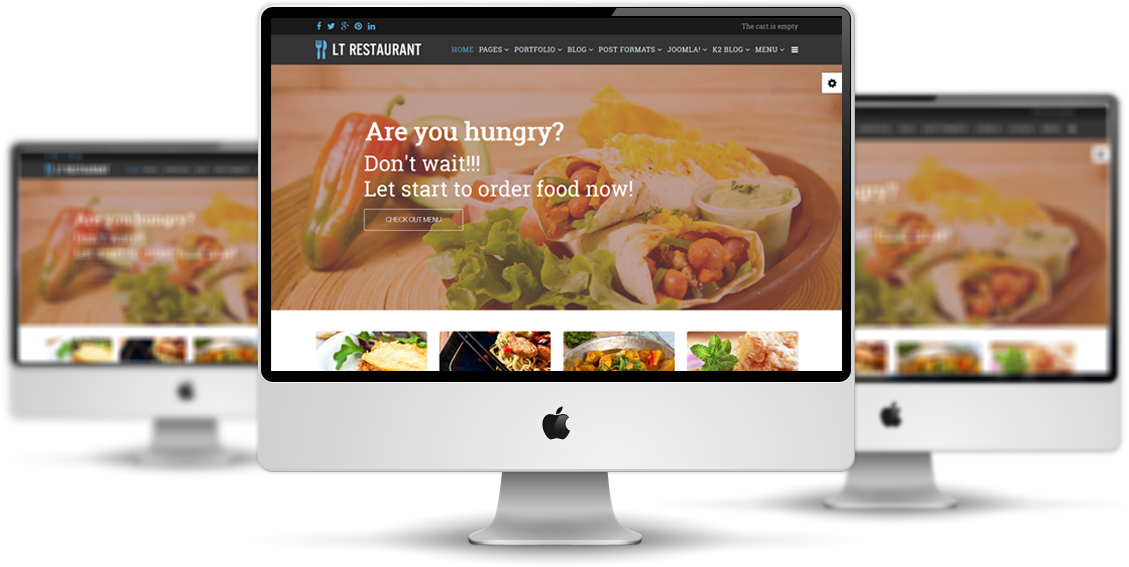 LT Restaurant Free Food Center Hikashop Joomla Template - Restaurant template wordpress
