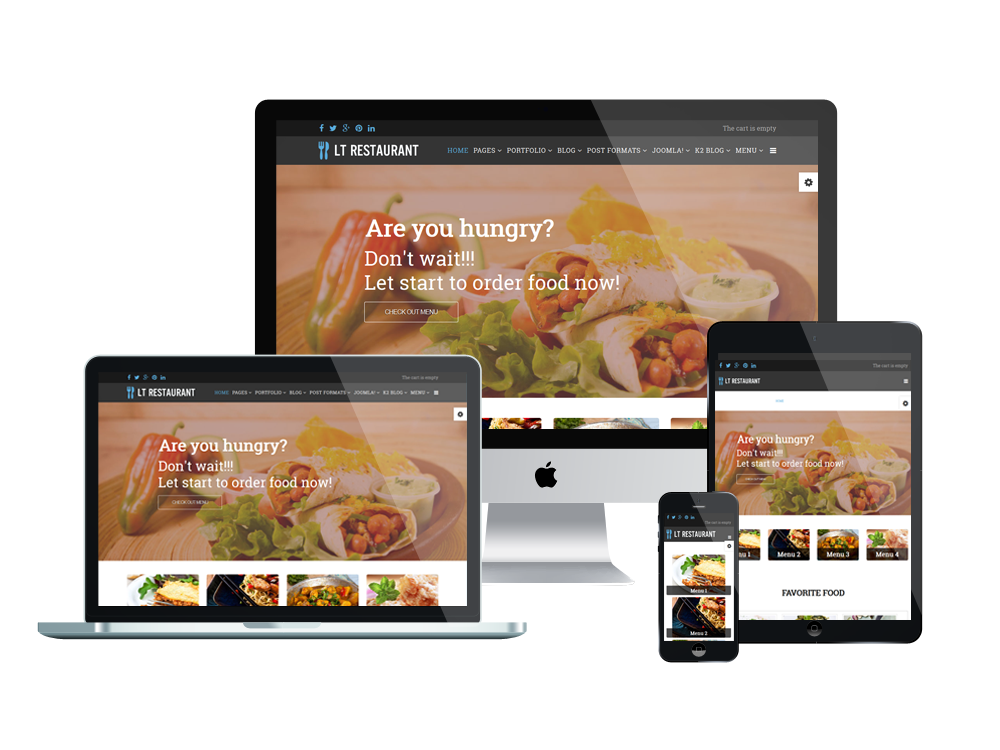 lt restaurant free food center hikashop joomla template