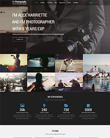 LT Photography Onepage – Free Responsive Image Gallery / Photography Onepage WordPress theme