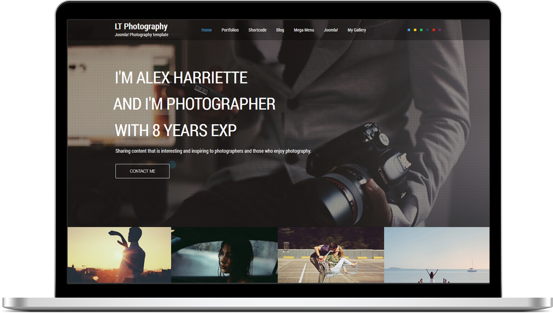 clean photographer portfolio joomla template 45872 lt photography onepage joomla template