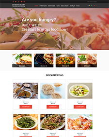 LT Restaurant – Free Food Center Hikashop Joomla template