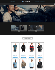 LT Fashion – Free clothes / fashion Joomla template