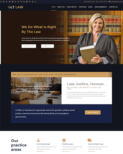 LT Law – Free Responsive Legal / Law Firm WordPress theme