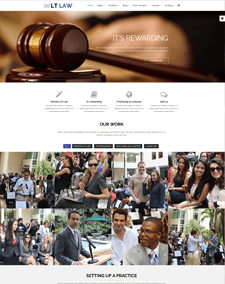 LT Law Onepage – Free Responsive Legal / Law Firm Onepage WordPress theme