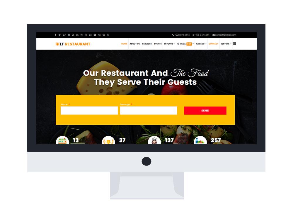 Restaurant Joomla templates free