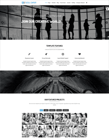 LT Social Company – Free Responsive Social Company Onepage Joomla template