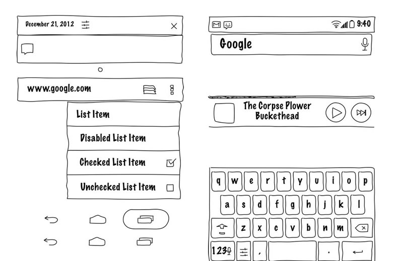 Free Android GUI & Wireframe Templates 2014