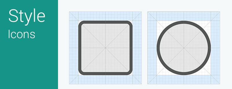 17Android L Icon Grid System