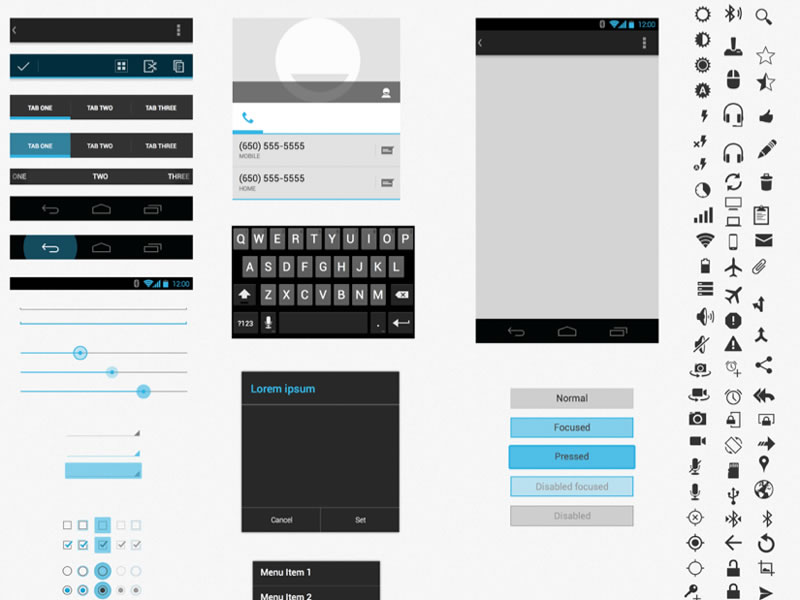 1Android UI XHDPI Template