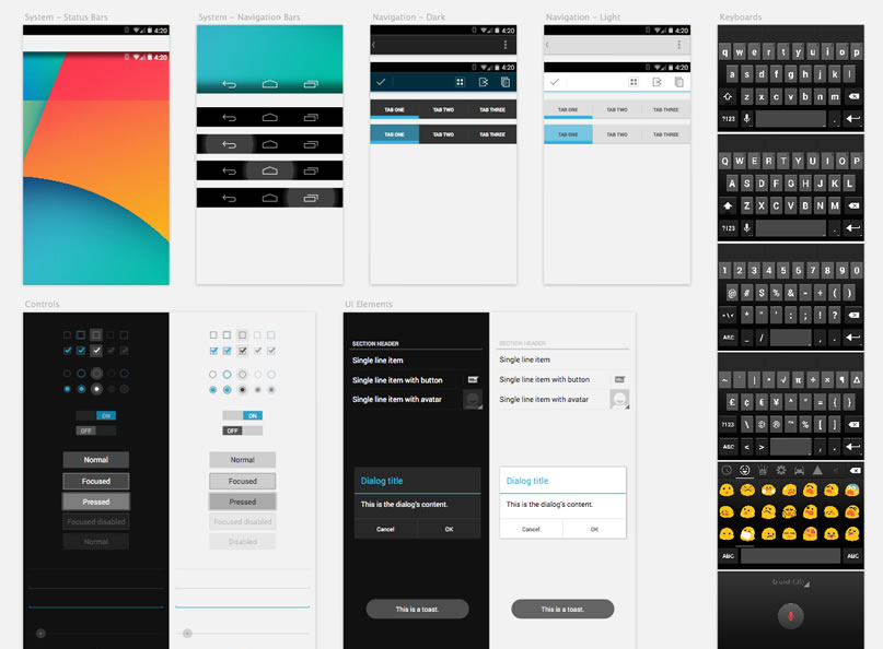 3Android GUI Template