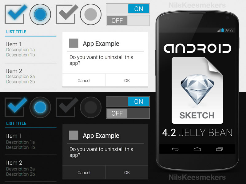7Android 4.2 GUI Template