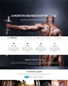LT Fitness Onepage – OnePage Fitness Joomla template
