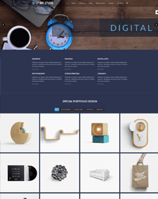 LT Art Studio Single Page – Free Art Gallery WordPress theme