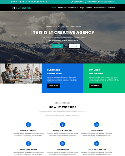 LT Creative Onepage – One page Joomla Design Studio template