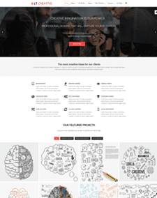 LT Creative – Free Responsive Image Design / Creative WordPress theme