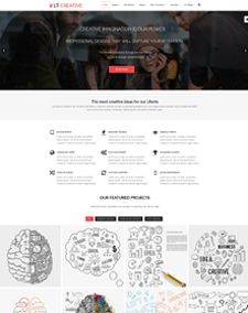 LT Creative Onepage – Free Responsive Image Design / Creative Onepage WordPress theme