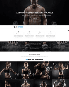 LT Fitness – Free Responsive Fitness / Gym WordPress theme