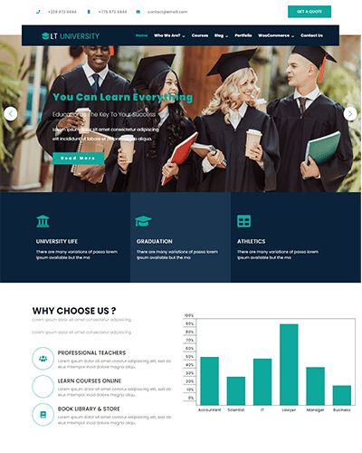 LT University Onepage – Free One Page Joomla University template