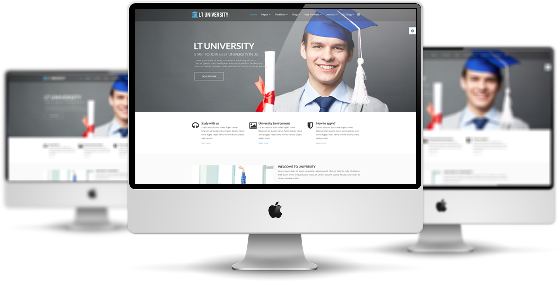 Lt university free joomla university template lt university mockup maxwellsz