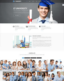 LT University Onepage – Free School / College / University Onepage Joomla template