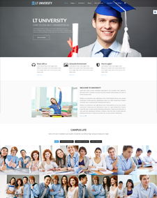 LT University Onepage – Free Responsive College / University Onepage WordPress theme