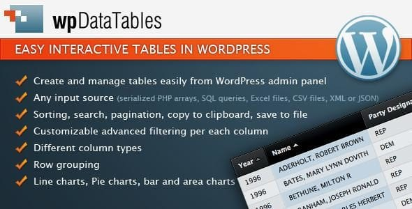 Make Data Tables In WordPress With WPDataTables