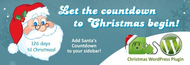 1Santa's Christmas Countdown Widget for WordPress