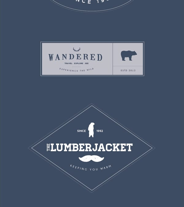 6 Vintage Logo Badges Free Download