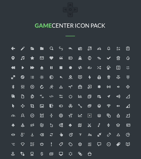 Gamecenter Icons Free Download Pack