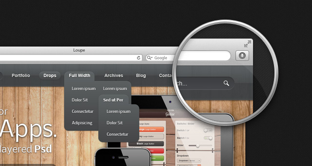 Magnifying-Loupe-Psd