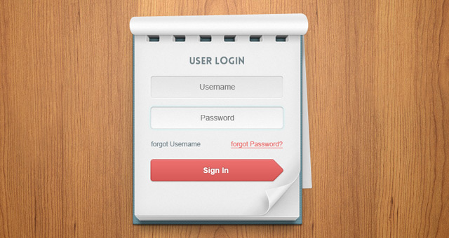 Psd-User-Login-Notebook