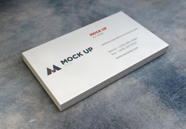 Realistic Business Card Mockup 2