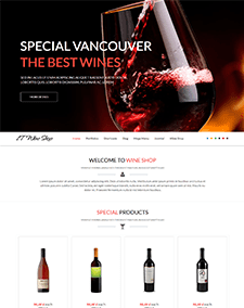 LT Wine Shop –Free Responsive Wine Store / Wine Shop WordPress theme