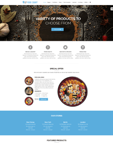 LT Food Court Single Page – Free Responsive One page Catering WordPress theme