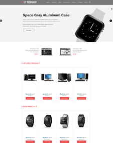 LT Tech Shop – Free Responsive Hi-Tech Store WordPress theme
