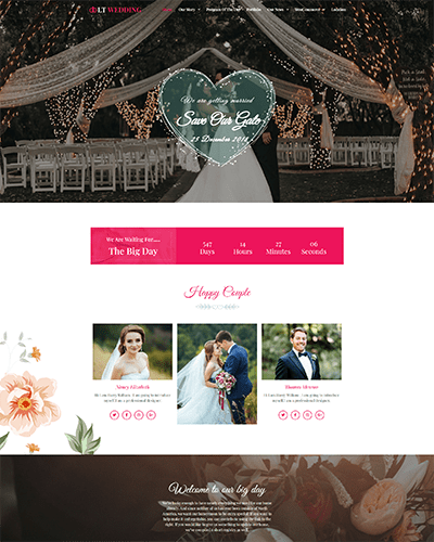 LT Wedding – Free Joomla Wedding Planner template