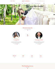 LT Wedding – Free Responsive Wedding Planner WordPress theme