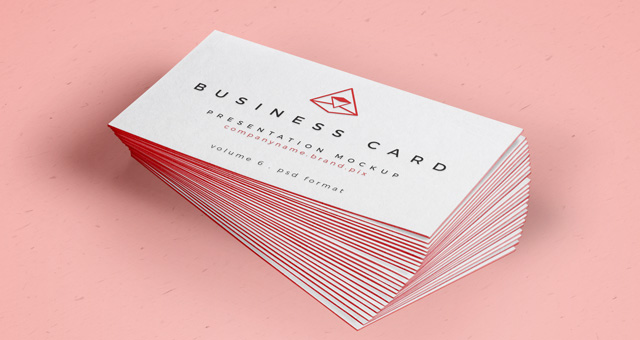 Free Psd Business Card Mock Up Vol26