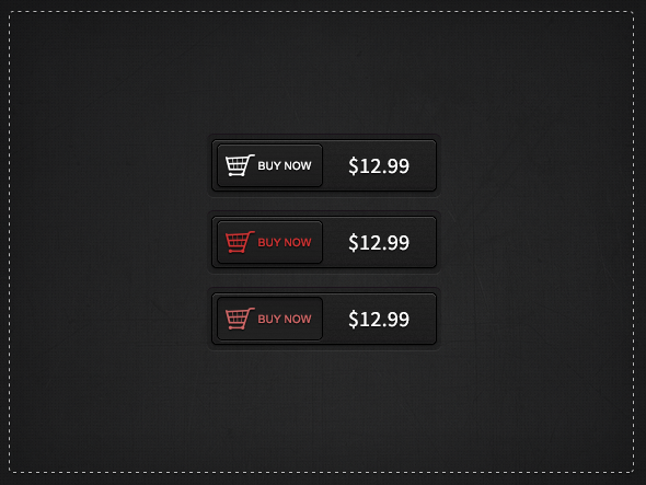 11Dark Buy Now Buttons Free PSD