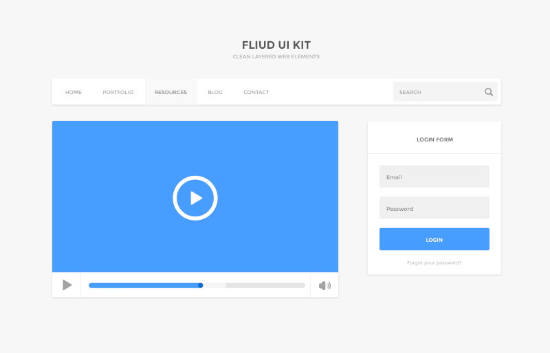11Fluid UI Kit Free PSD