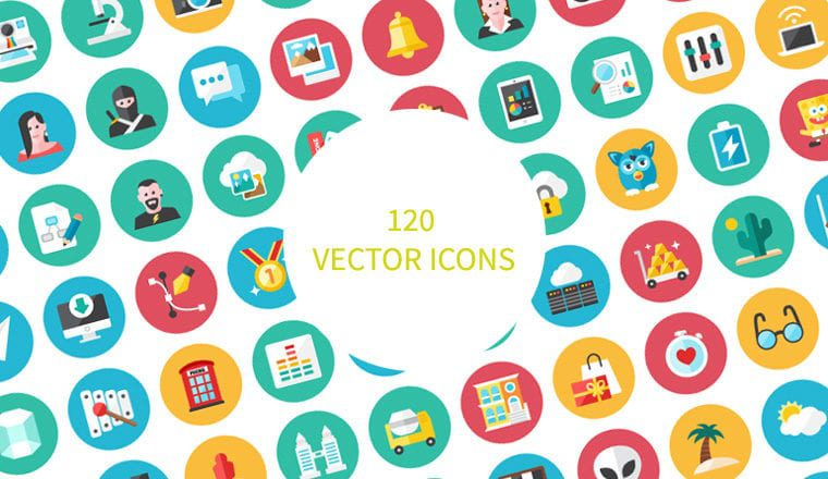 120 free Vector Icons Download