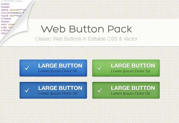 12Clear Web Button Pack Free PSD