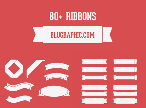 1380+ Ribbons Free PSD