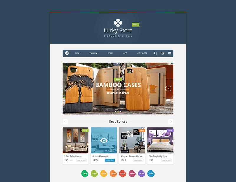 14Lucky Store UI Kit Free PSD