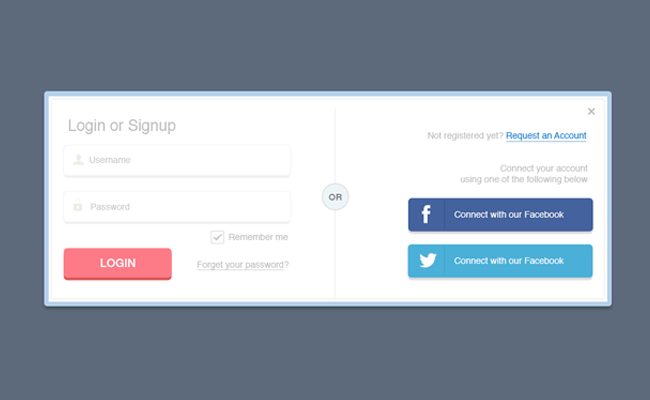 18Simple Sign In Form Free PSD
