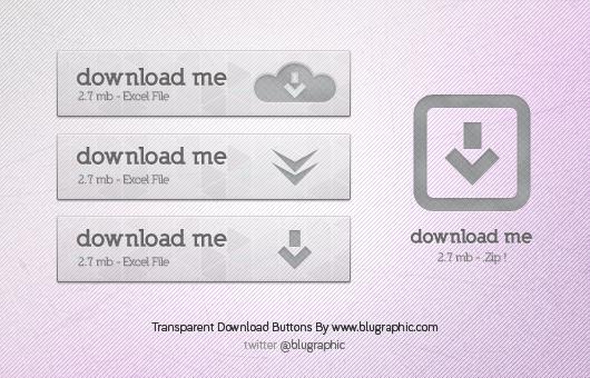 18Transparent Download Button Free PSD