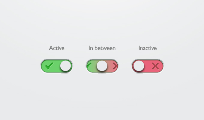 1On-Off Button Free PSD