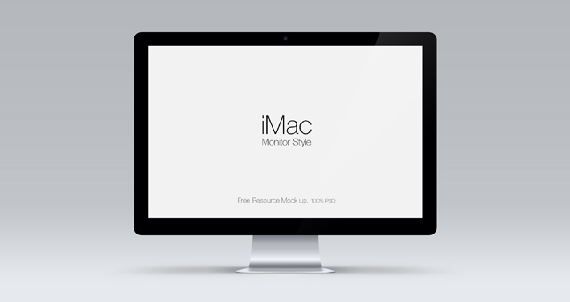 20Cinema Display Mockup Free PSD