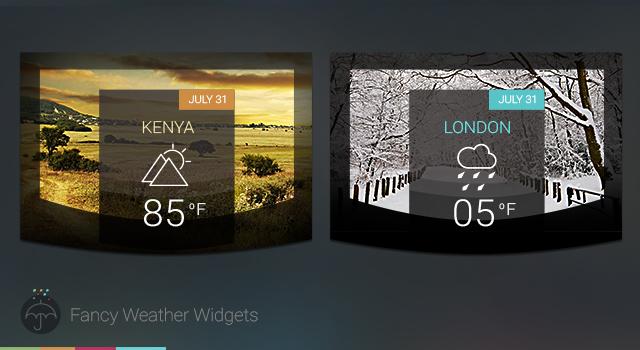 2Fancy Weather Widgets Free PSD